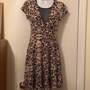 Beautiful Sexy Cheetah print Skater Dress